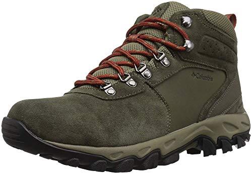 Columbia Men's Newton Ridge Plus II Suede Waterproof Wide Hiking Shoe, peat Moss, Burgundyy, 10.5 Wide US