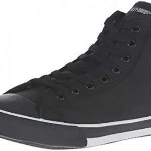 Harley-Davidson Men's Baxter Skateboarding Shoe, Black/White