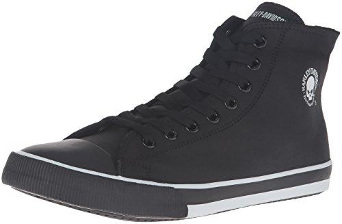 Harley-Davidson Men's Baxter Skateboarding Shoe, Black/White