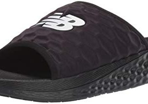 New Balance Men's Hupo'o V1 Fresh Foam Slide Sandal, Black/ORCA