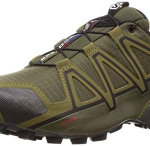 Salomon Men's Speedcross 4 Trail Running Shoes, Grape Leaf/Burnt Olive/Black, 10.5 Wide