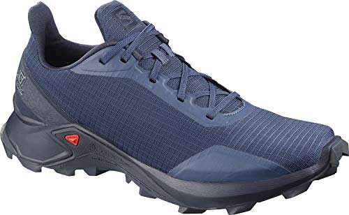 Salomon Men's ALPHACROSS Trail Running Shoe, Sargasso Sea/Navy Blazer/India
