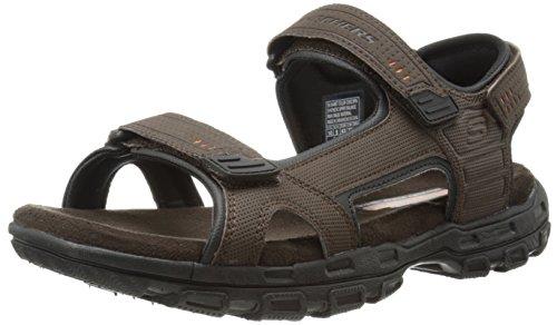 Skechers USA Men's Louden Sandal, Brown, 12 M US