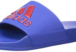 adidas Originals Men's Adilette Shower Sport Sandal, Collegiate Royal/Power Red
