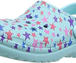 Crocs Kid's Classic Printed Lined Clog, Ice Blue