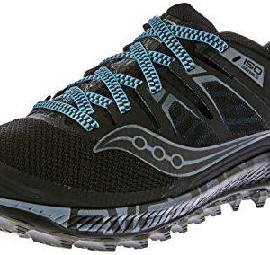 Saucony Men's Peregrine ISO Trail Running Shoe, Black/Grey