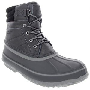 LONDON FOG Mens ASHFORD3 Waterproof and Insulated Duck Boot Black