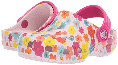 Crocs Kids' Classic Seasonal Graphic Floral Clog, Barely Pink