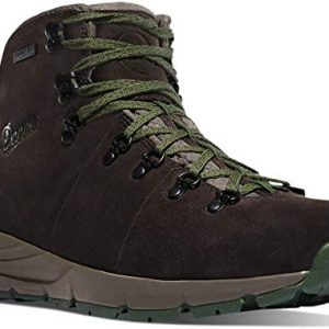 "Danner Men's Mountain 600 4.5"" Hiking Boot, Dark Brown/Green-Suede"