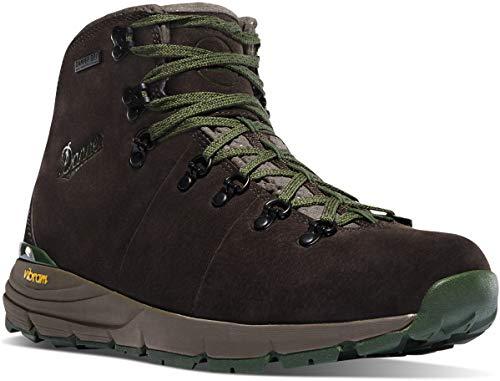 "Danner Men's Mountain 600 4.5"" Hiking Boot, Dark Brown/Green-Suede"