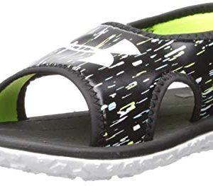 Under Armour Kids' Pre School Fat Tire III Slide Sandal, Black