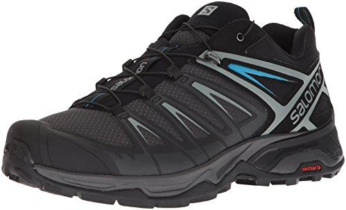 Salomon Men's X Ultra 3 Hiking Shoes, PHANTOM/Black/Hawaiian Surf, 10