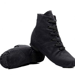 NLeahershoe Dance Shoes Lace up Jazz Danceing Boot Shoes for Canvas Shoes
