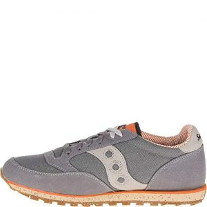 Saucony mens Jazz Low Pro Vegan Sneaker, Charcoal/Orange