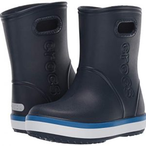 Crocs Kids' Crocband Rain Boot | Easy Slip On for Toddlers