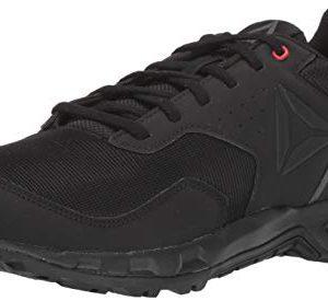Reebok Men's Ridgerider Trail 4.0 Walking Shoe, Black/Grey/red