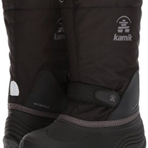 Kamik Girls' Waterbug5 Snow Boot, Black/Charcoal