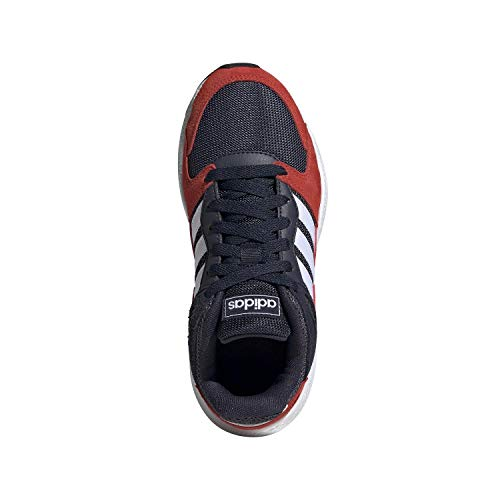 adidas Unisex-Kid's Chaos Sneaker, Trace Blue/White/Active Red Leather and suede sneakers with a throwback type constructed for the road Regular match; Lace closure Coated leather-based higher with suede overlays Synthetic and rubber outsole Cushioned Cloudfoam midsole An uncompromising design with a street-ready look. Nodding to the previous, these running-inspired sneakers for juniors function a coated leather-based higher with textured suede overlays. Soft midsole cushioning delivers a easy experience.