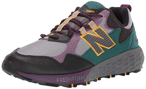 New Balance Men's Trail Running Shoe, Castlerock/Black/Midnight Magenta