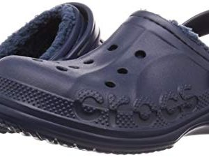 Crocs Kids' Baya Lined Clog, Navy/Navy