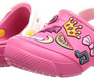 Crocs Unisex FunLab Playful Patches Clog, Paradise Pink