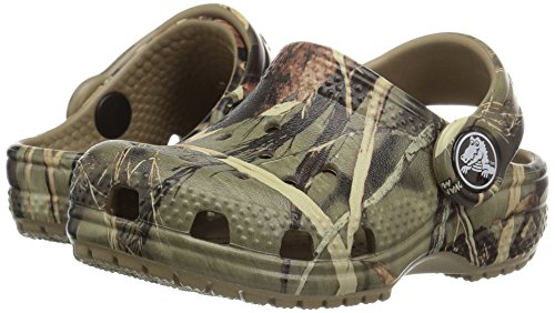 Crocs Kids' Classic Realtree Clog   Slip On Water Shoe for Toddlers, Boys