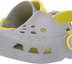 Crocs Kids Electro (Toddler/Little Kid) Light Grey/Citrus