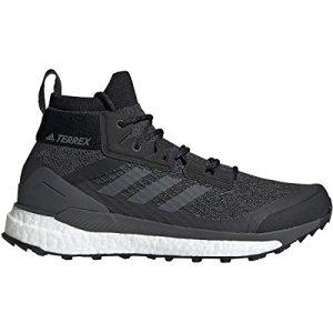 adidas Men's Terrex Free Hiker Hiking Boot, Black/Grey/Orange