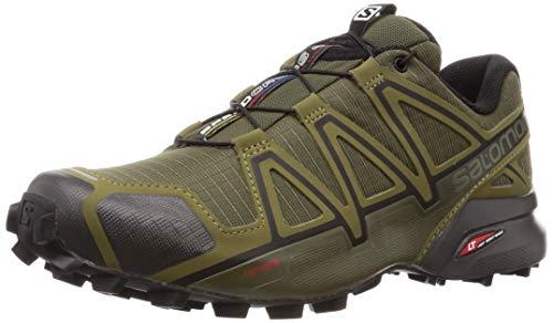 Salomon Men's Speedcross 4 Trail Running Shoes, Grape Leaf/Burnt Olive/Black, 10.5 Wide