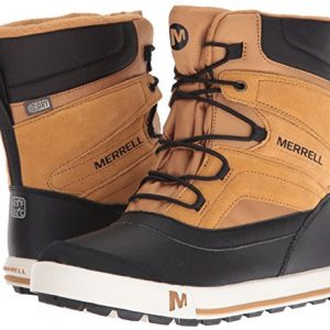 Merrell Kids' Unisex Ml-Snow Bank 2.0 Wtrpf Boot, Wheat/Black