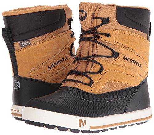 Merrell Kids' Unisex Ml-Snow Bank 2.0 Wtrpf Boot, Wheat/Black