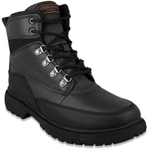 LONDON FOG Mens Camden Waterproof Cold Weather Snow Boot Black
