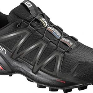 Salomon Men's Speedcross 4 Trail Running Shoes, Black/Black/BLACK METALLIC, 9.5