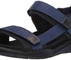 ECCO Men's X-Trinsic Sandal, Black/True Navy Textile