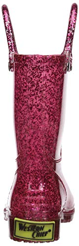 """Western Chief Girl's Glitter Waterproof Rain Boot, Pink GLITTER BOOTS 