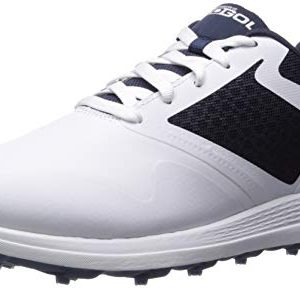Skechers Men's Max Golf Shoe, White/Navy, 11 M US