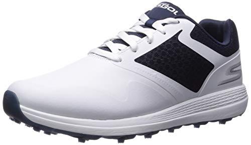 Skechers Men's Max Golf Shoe, White/Navy, 11 M US