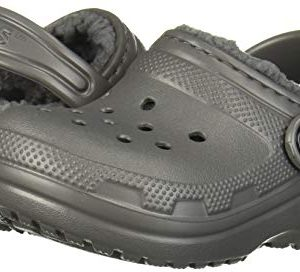 Crocs Kids' Classic Lined Clog, Slate Grey/smoke