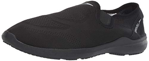 Speedo Men's Surfwalker Pro Mesh Water Shoe, Black/Black