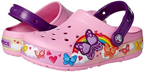 Crocs Kids' Fun Lab Butterfly Band Light-Up Clog, Carnation