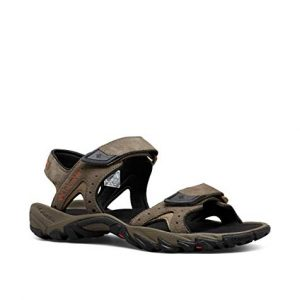 Columbia Men's SANTIAM 2 Strap Sport Sandal, mud, Heatwave
