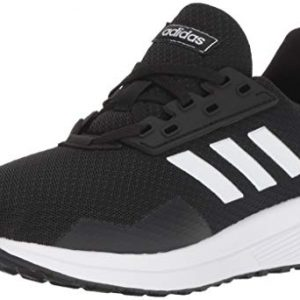 adidas Unisex-Kid's Duramo 9 Running Shoe, Black/White/Black