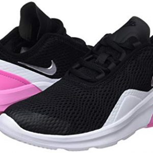 Nike Girl's Air Max Motion 2 Shoe Black/Metallic Silver/Psychic Pink/White