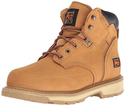 "Timberland PRO Men's Pitboss 6"" Steel-Toe Boot, Wheat"