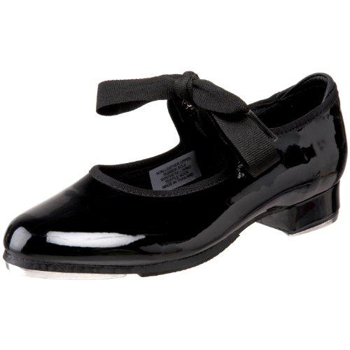 Bloch Girls Dance Annie Tyette Tap Shoe, Black Patent