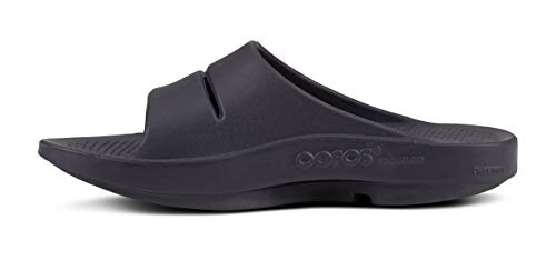 OOFOS - Unisex OOahh - Post Exercise Active Sport Recovery Slide Sandal OOfoam Recovery Technology absorbs 37% extra impression than conventional footwear foam, giving your ft the break they want Our patented footbed will cradle your arches to scale back stress on sore ft, ankles, knees, and decrease again Designed to permit pure movement and aid Keeping issues straightforward, OOFOS are machine cleanable OOFOS are made in complete sizes. We suggest sizing down when you're a males's half measurement After-sport restoration makes a daring, graphic assertion and the attention-catching, two-tone higher is just the start. Behind the great appears to be like: OOfoam's floor-breaking impression absorption and arch assist, plus a patented footbed for pure movement. Shower-ready, with moisture resistance. Available in three colours.
