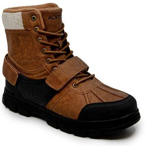 Nautica Men's Kressler Lace Up Adjustable Strap Winter Snow Boots