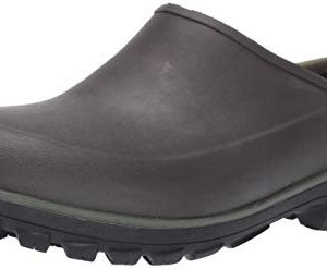 BOGS Men's Sauvie Clog Waterproof Rain Shoe, Brown, 11