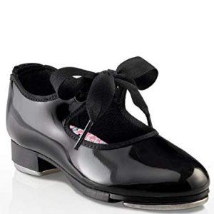 Capezio Kids Girl's Jr. Tyette N625C (Toddler/Little Kid) Black Patent Sneaker