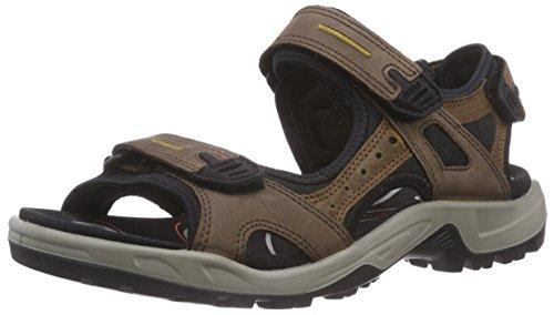 ECCO Men's Yucatan outdoor offroad hiking sandal, Espresso/Cocoa Brown/Black